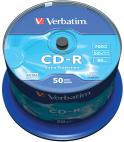 CD-R VERBATIM 700 MB 52X ШПИНДЕЛ 50 БРОЯ