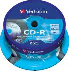 CD-R VERBATIM 700MB PRINTABLE ШПИНДЕЛ 25